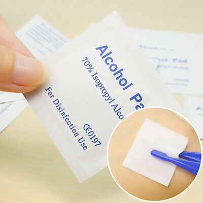 Alcohol Wipe Pad Medical Swab Sachet Antibacterial Tool Cleanser 100PCS LE