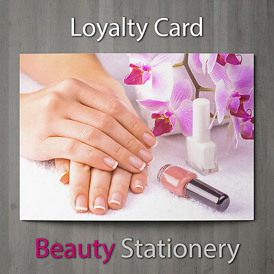 Loyalty Card Beauty Salon Pedicure Manicure Nail Technicians Therapist A8 Mini