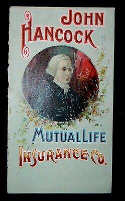 Antique Very Rare 1892 John Hancock Mutual Life 30th Annual Statement Trade Book