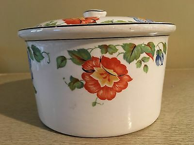 Vintage Harker Jewel Weed Columbia Chinaware 1930's Canister