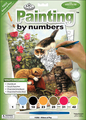 """Junior Small Paint By Number Kit 8.75""""X11.75"""" Kittens At Play PJS52"""