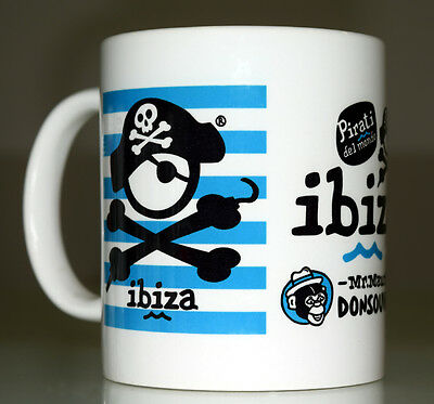 Taza Mug Pirati Ibiza Blue Stripes. Donsouvenir.