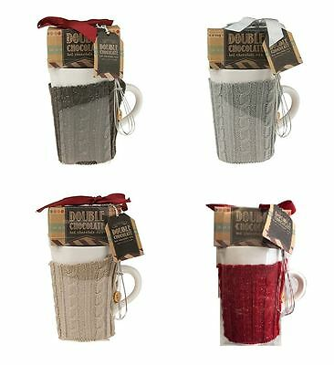New Hot Chocolate Gift Set with Mix Cosy Sweater & Whisk Christmas Gift Set