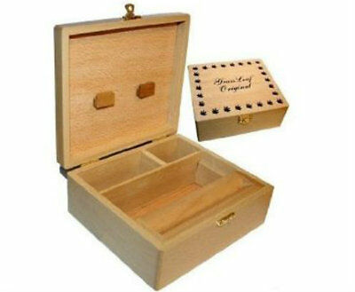 CBL Wooden LARGE Rollbox Rolling Roll Stash Snuff Tobacco Box Smoking Grassleaf
