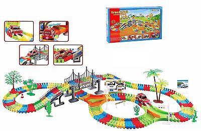 257 Pcs Flexible Variable Car Track Racing Set Battery Operated For Children