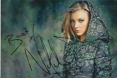 Natalie Dormer Hand Signed 6X4 Photo Game Of Thrones 1.