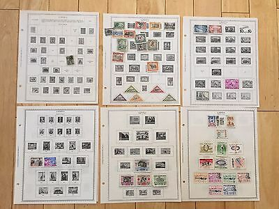 J76 Liberia & Ivory Coast Stamps Minkus Hinged Pages French West Africa Air Mail