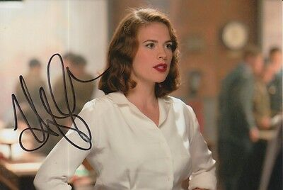 Hayley Atwell Hand Signed 6X4 Photo Captain America.