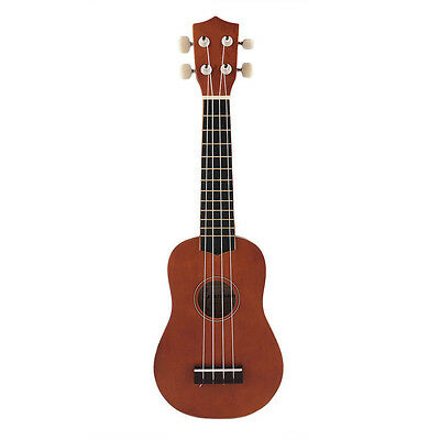 21'' Ukulele Uke Instrument Soprano Hawaiian Style Guitar For Beginners Coffee