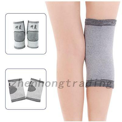 One pair Gray Sport Gym Elastic Knee Pad Support  Arthritis Injury Protector New