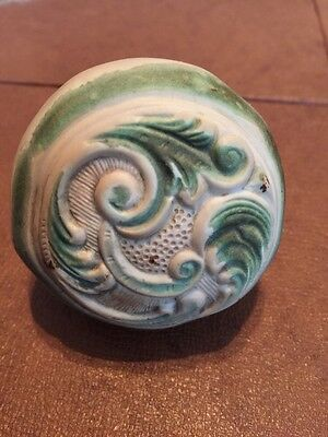 Doorknob w/ Vintage Novelty Trim NY Victorian Antique Cover Rubber Decor #610A
