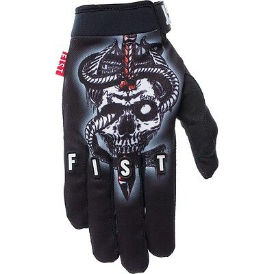 NEW Fist Handwear MX Jamie Foster Afterlife Black Strapped BMX Motocross Gloves