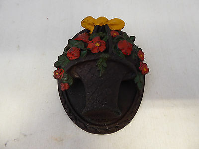 Vintage Metal Basket Flowers Door Knocker