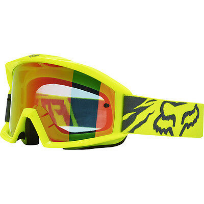 NEW Fox Racing 2017 MX Main Race Yellow Red Tinted Dirt Bike Motocross Goggles