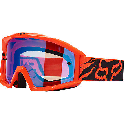 NEW Fox Racing 2017 MX Main Race Orange Blue Tinted Dirt Bike Motocross Goggles