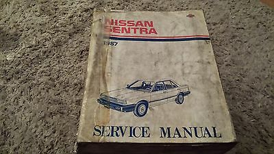 1987 Nissan Sentra Factory Service Manual Book Used
