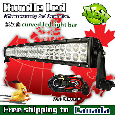 24inch LED Light Bar Combo Curved Off road Truck Jeep Ford SUV ATV UTE 4X4 20/22