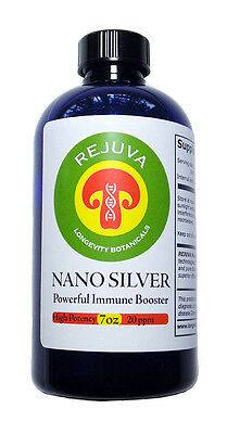SILVER: COLLOIDAL NANO SILVER High Potency-50 ppm OVER 1 MONTH SUPPLY