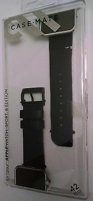 Case-Mate - Signature Smartwatch Band for Apple Watch 42mm - Black