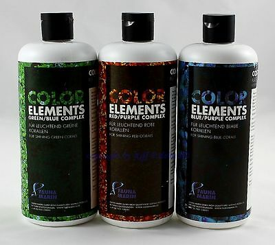Ultra Color Elements 3 x 500ml im Set Fauna Marin Spurenelemente 39,30€/L