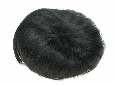 Black Fake Artificial Imitation Synthetic Hair Bun with Drawstring UK