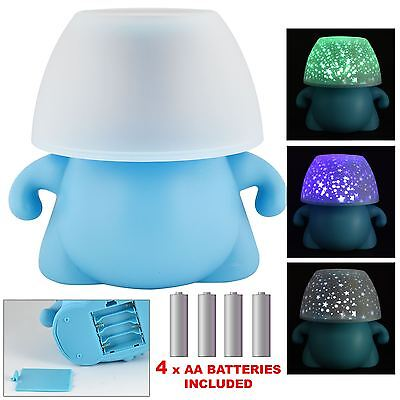 Children Kids Rotating Night Light LED Bulb Character Stand 5 Light Function