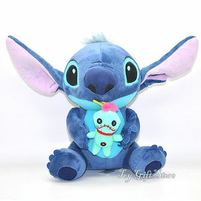 "Lovely Lilo Stitch with SCRUMP Plush Doll 24cm 9.6"" Soft Stuffed Toy Loose New S"