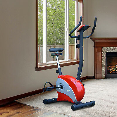 Soozier Magnetic Exercise Bike Indoor Cycling Trainer Cardio Health Fitness Gym