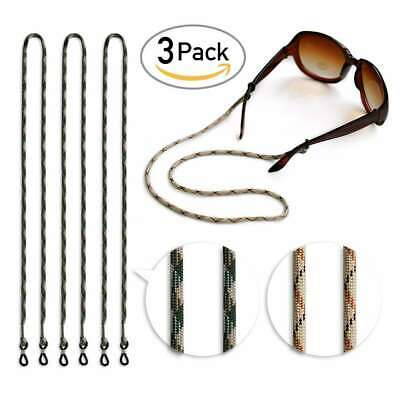 "3pc 24"" Nylon Glasses Lanyard Sunglasses Strap Cord Spectacle Chain Holder Neck"