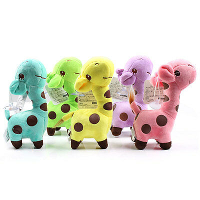 Kids Baby Cute Giraffe Dear Soft Plush Toy Little Animal Doll Party Gift 18CM