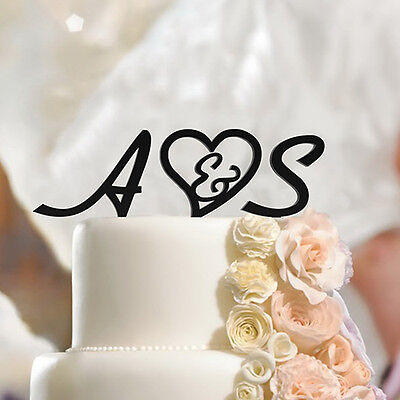 Personalized Wedding Initials Cake Topper Letters, Custom Made Script, Monogram