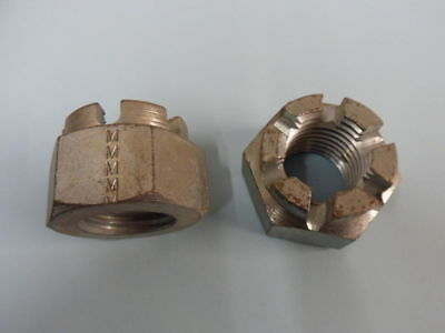 M30 CASTLE NUTS, BRIGHT ZINC PLATED, X 2 No.