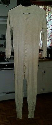 1940s-50s Vintage GLOBE KNITTING WORKS Union Suit Mens Size 42 or Large-Nice!