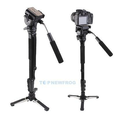 YUNTENG C288 Camera Monopod + Fluid Pan Head + Unipod Tripod Holder For Canon