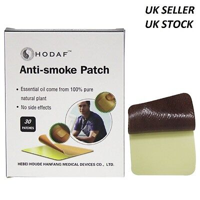 30Pcs HODAF Anti Smoke Chinese Medical Herbal Patch Stop Quit Smoking Repellent