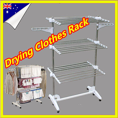 6 Tiers Portable Indoor Clothes Airer Horse Laundry Drying Rack Garment Hangers