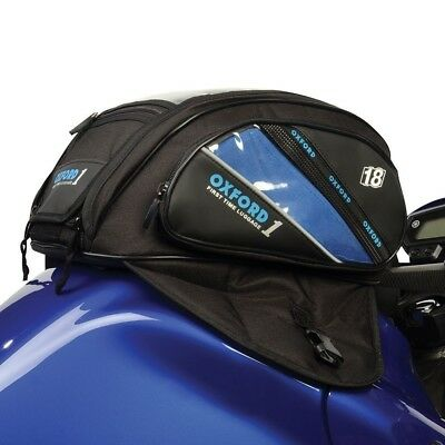 Oxford 1st Time 18L Strap On Tank Bag for Motorcycles & Scooters - OL433