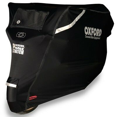 Oxford Protex Stretch Outdoor Premium Motorcycle Cover - Rain Wind Sun Proof - L