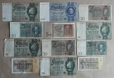 WW2 GERMAN WEHRMACHT WWII - SET OF REICHSMARK BANK-NOTES 1942 set #2