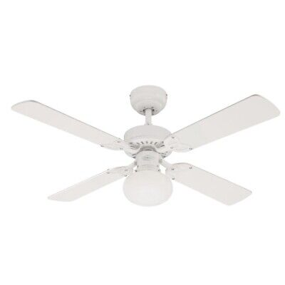 "Vegas 42"" Westinghouse Ceiling Fan and Light in White"