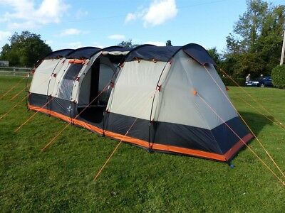 OLPro Wichenford 2.0 Family Tunnel Tent 8 Berth, 5000mm HH, Sewn-in Groundsheet