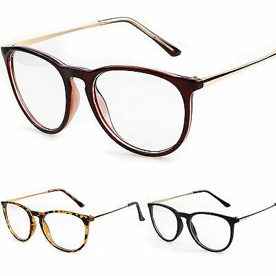New Keyhole Clear Lens Fashion Retro Glasses Slim Frame Women's Mens Oval