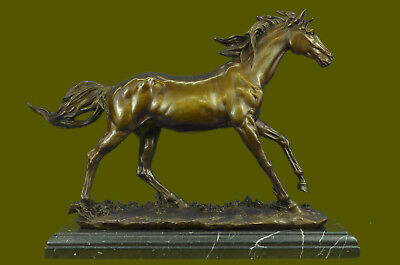 Horse Solid Bronze Collectible Statue Original Hot Cast Figurine Gift lost wax