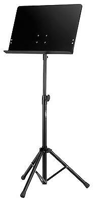 Professional Heavy Duty Orchestral Sheet Music Stand Tripod Base Holder Black