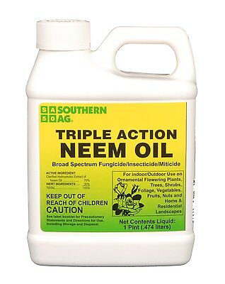 Southern Ag Triple Action Neem Oil 16 oz. Organic Insecticide Fungicide Miticide