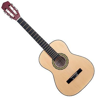 3/4 Size Left Handed Classical Acoustic Concert Guitar 6 Nylon Strings Basswood