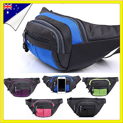 Unisex Handy Waist Belt Climbing Hiking Sport Bum Bag Fanny Pack Zip Pouch