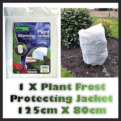 1 X  PLANT FROST PROTECTION FLEECE JACKET COVER 125cm X 80cm DAMAGE PROTECTOR UK