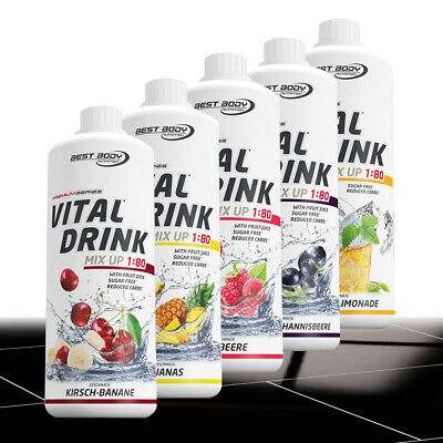 Best Body Nutrition 1 Liter Low Carb Vital Drink Mineraldrink Sirup TOP !
