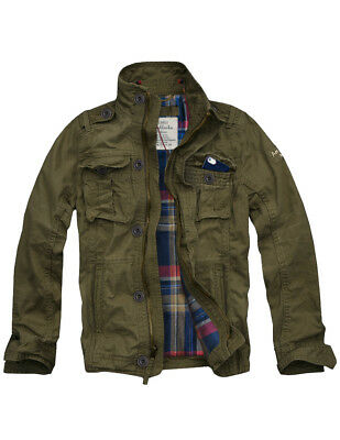 Ship from USA! MENS CALI HOLI FLANNEL LINED MILITARY CARGO JACKET OLIVE 155022